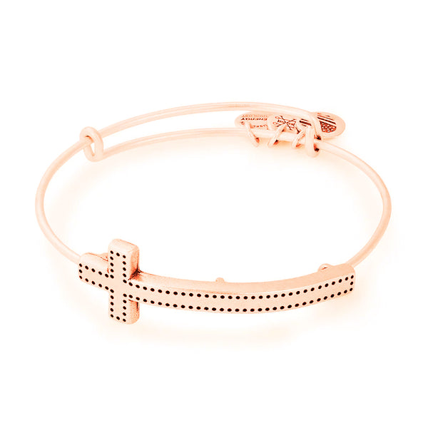 Alex and Ani Cross Spiritual Armor Bangle RAFAELIAN Rose Gold