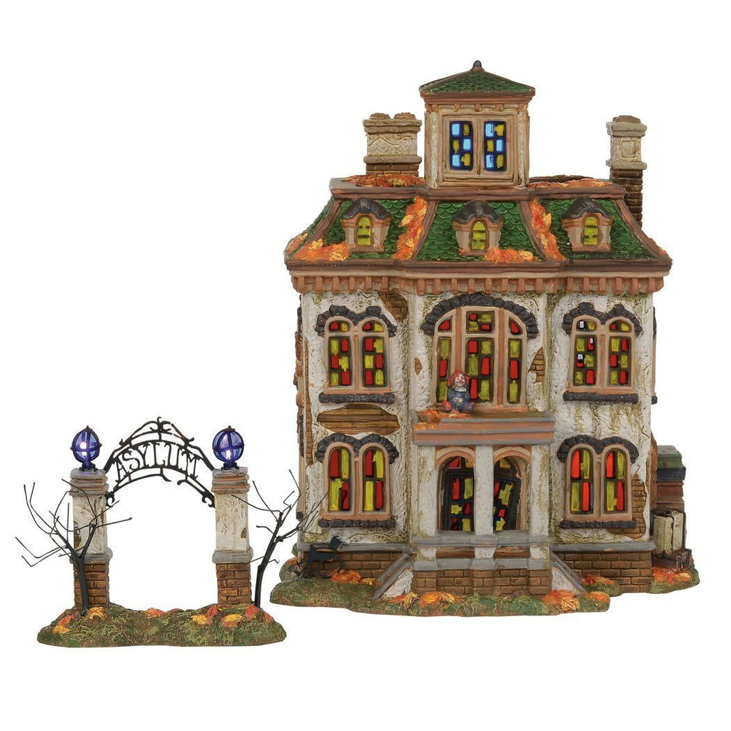 Department 56 Snow Village Halloween Last Laugh Asylum Lighted Building