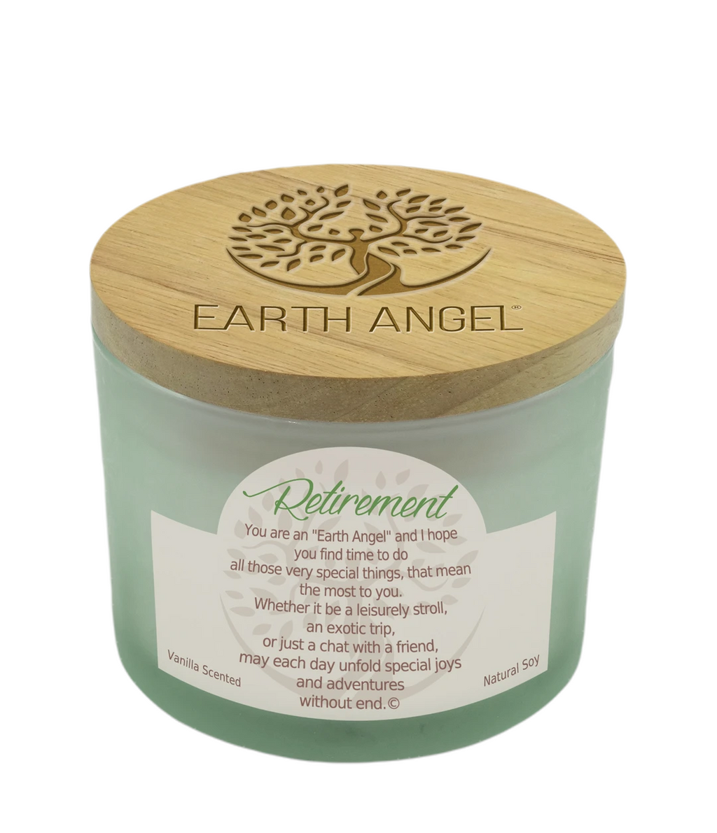 Earth Angel Natural Soy Candle 12 Ounce Retirement