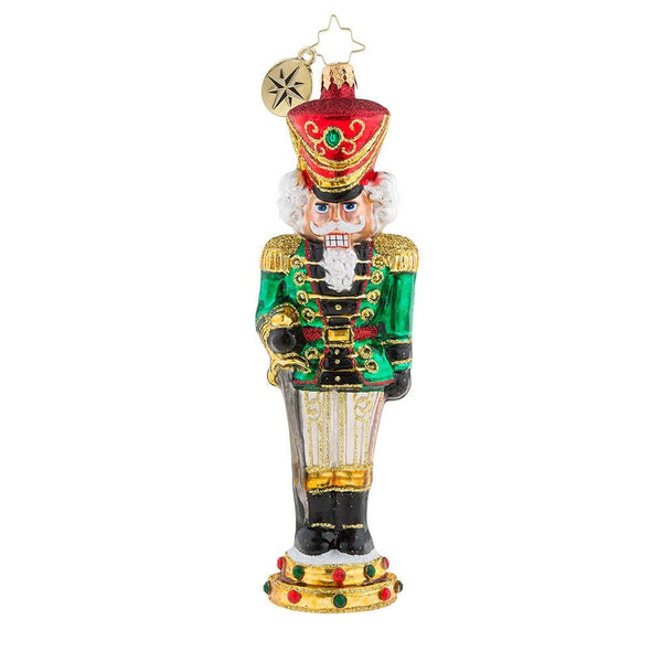 Christopher Radko Attention Nutcracker Christmas Ornament