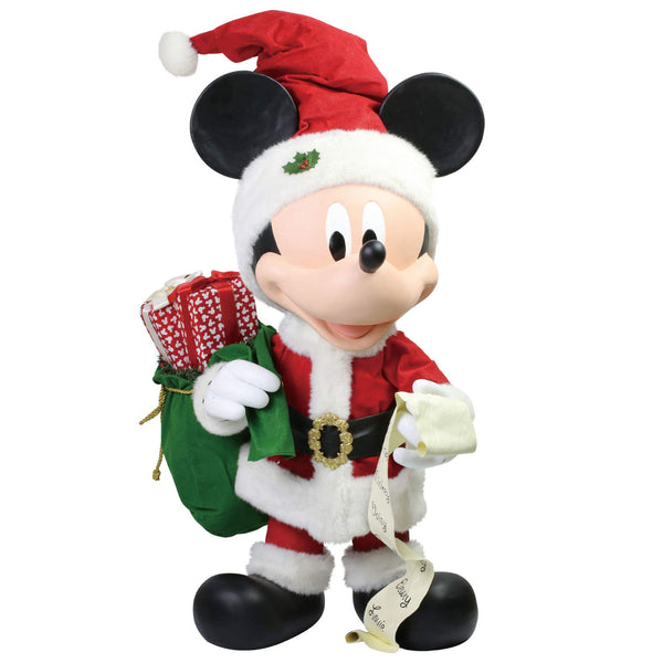 Department 56 Possible Dreams Disney Merry Mickey Mouse Showcase Figurine, 30 Inch, Multicolor