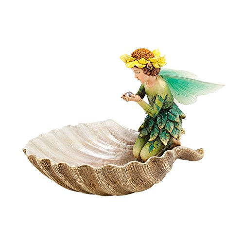 Department 56 Garden Guardians Collection Fairy Seashell Butterfly Bath Figurine