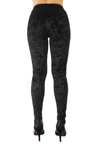 Luxury Leggings in Black Crush