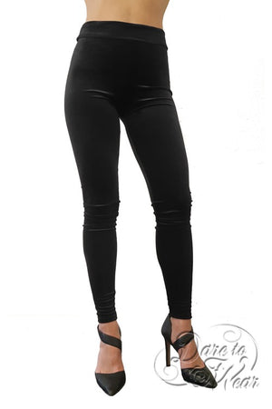 Luxury Leggings in Black Velvet