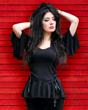 Dare Fashion Bolero Top F29 Black EleRedPlks Victorian Gothic Corset Tunic