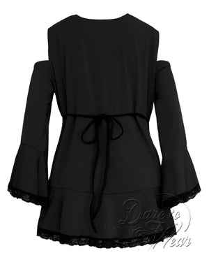 Dare Fashion Temptation Top F45 BlackB Gothic Victorian Corset Tunic