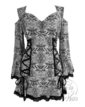 Dare Fashion Temptation Top F45 Ibiza Gothic Victorian Corset Tunic