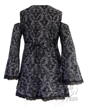 Dare Fashion Temptation Top F45 LondonB Gothic Victorian Corset Tunic
