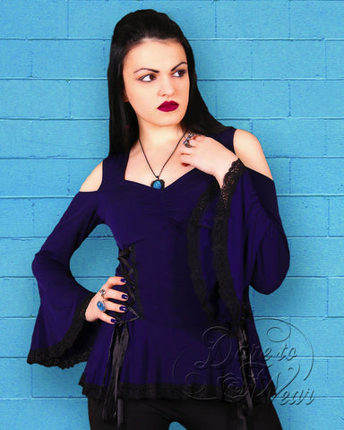 Dare Fashion Temptation Top F45 Midnight GGBluBlks Gothic Victorian Corset Tunic