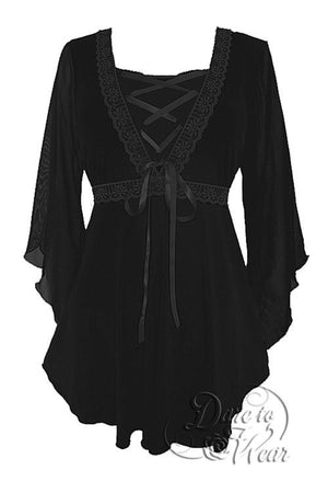 Bewitched Top in Black/Black