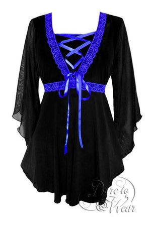 Bewitched Top in Black/Royal