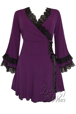 Dare To Wear Gothic Women's Victoria Corset Top Plum