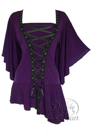 Dare To Wear Victorian Gothic Women's Alchemy Corset Top Amethyst