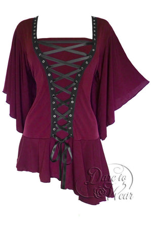 Dare To Wear Victorian Gothic Women's Alchemy Corset Top Garnet