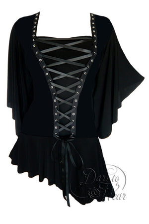 Dare To Wear Victorian Gothic Women's Alchemy Corset Top Onyx