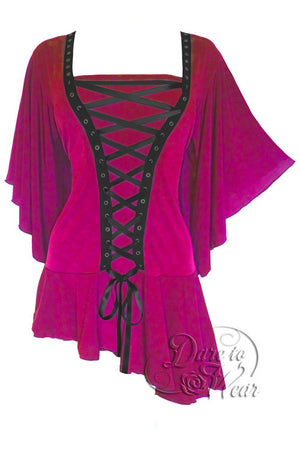 Dare To Wear Victorian Gothic Women's Alchemy Corset Top Rubelite