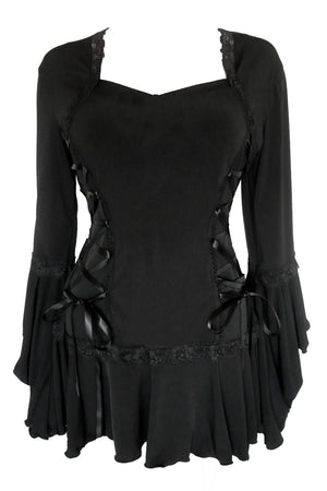 Dare to WearVictorian Gothic Steampunk Bolero Corset Top in Black