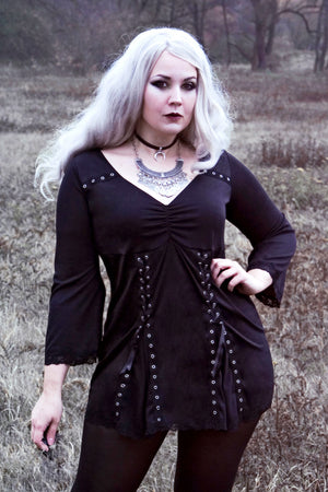 Meli Hoppe in Dare to Wear Electra Corset Top, Black