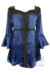 Dare To Wear Victorian Gothic Women's Plus Size Enchanted Top in Ink