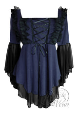Dare To Wear Victorian Gothic Women's Fairy Tale Corset Top Midnight
