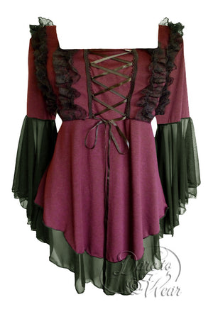 Dare To Wear Victorian Gothic Women's Fairy Tale Corset Top Ruby