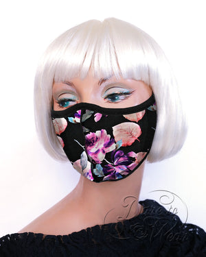 Dare Fashion Myriad Mask M01 Moonlit Orchid Victorian Gothic Cloth Face Cover