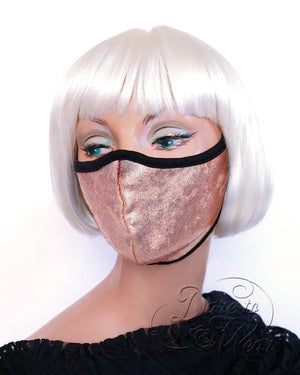 Dare Fashion Myriad Mask M01 Peaches Sparkle Victorian Gothic Cloth Face Cover