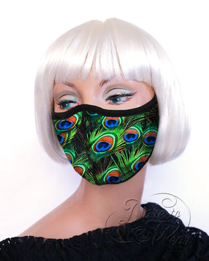 Dare Fashion Myriad Mask M01 Peacock Party Victorian Gothic Cloth Face Cover