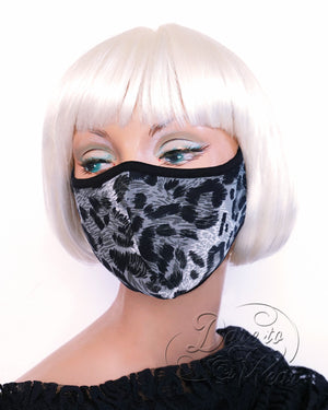 Dare Fashion Myriad Mask M01 SnowLeopard Victorian Gothic Cloth Face Cover