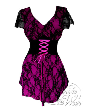Dare Fashion Sweetheart Top S09 Berry Victorian Gothic Corset Chemise