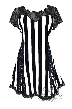 Dare To Wear Victorian Gothic Boho Women's Roxanne Corset Top Beetlejuice