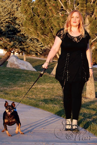Dare Fashion Roxanne Top SC44Black_LaurenTHart_WithDog