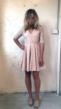 Pink Lace Dress - Front