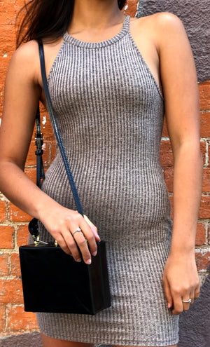 Ciara Ribbed Dress | Mocha