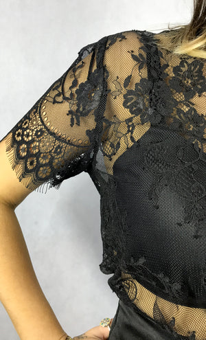 The Maiden Lace Top | Black