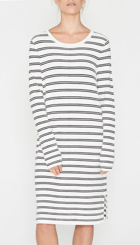 Margot Knit Dress | Navy Stripe