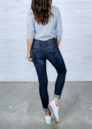 Lauren Vintage Dark-Wash Jeans | Ripped