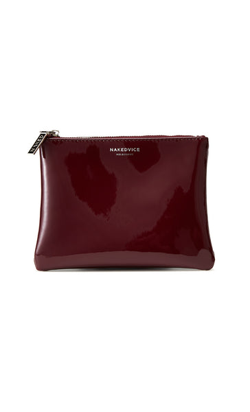 The Base Patent Leather Purse | Burgundy