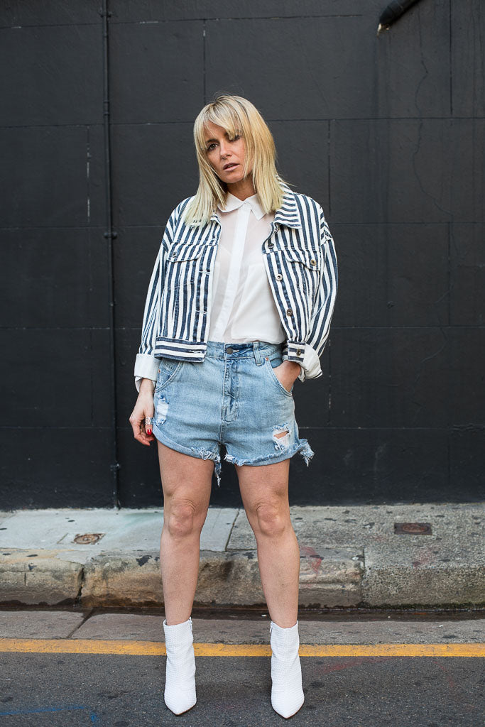 SADIE NAVY STRIPE JACKET