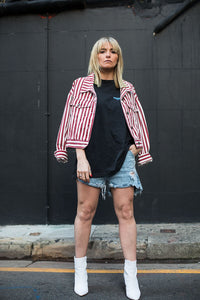 SADIE RED STRIPE JACKET