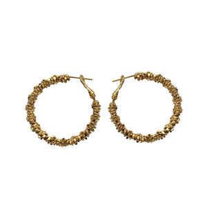 Stacked Stars Hoop Medium Earrings | Gold
