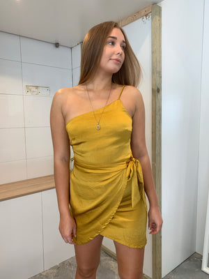 Chloe Dress | Mustard