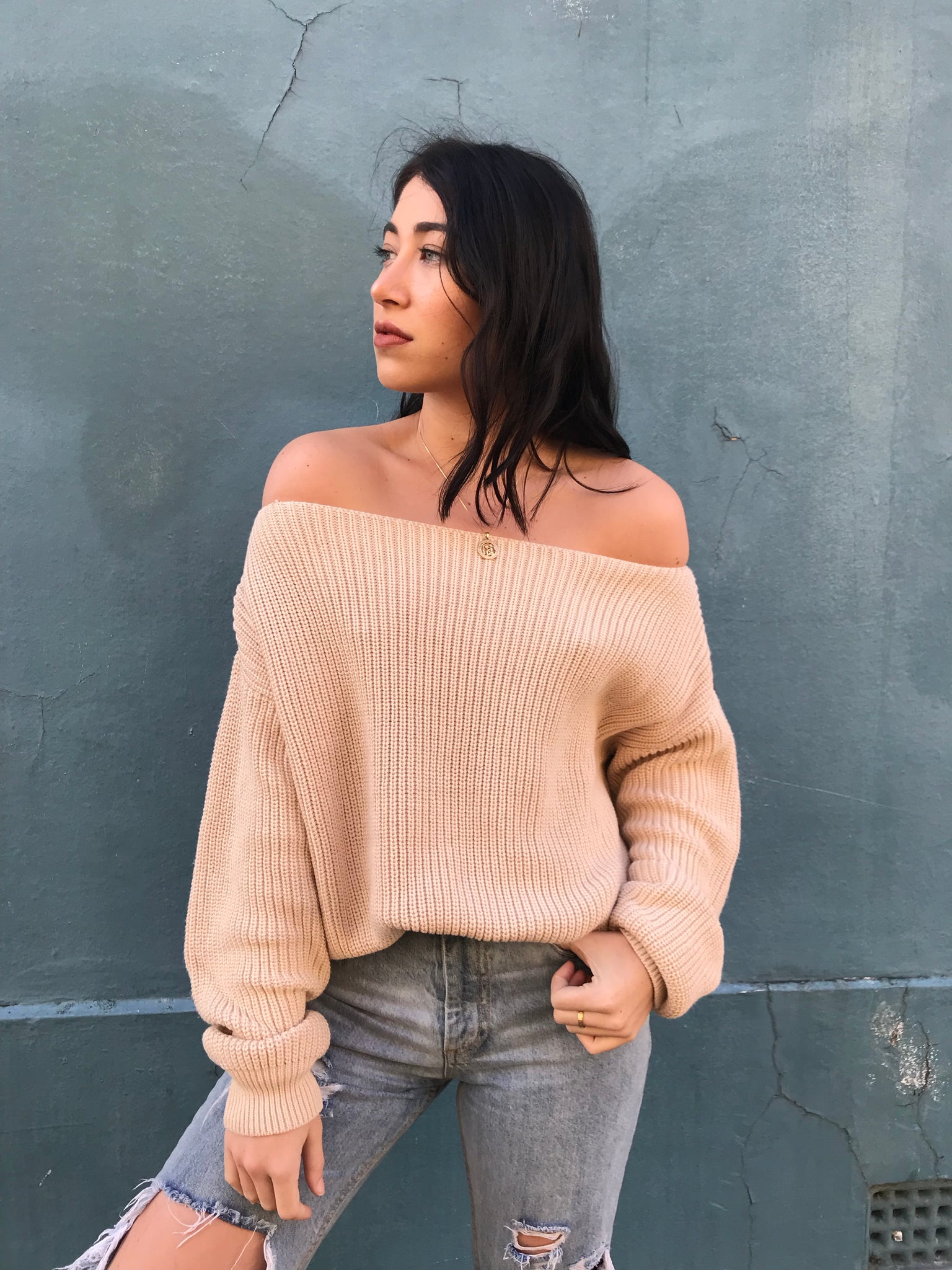 HOLLY OFF SHOULDER KNIT | CREAM