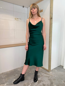 Xanthe Slip Dress | Emerald