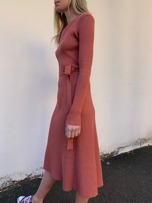Claudine Dress | Terracotta