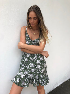 Dahlia Ruffle Dress | Floral