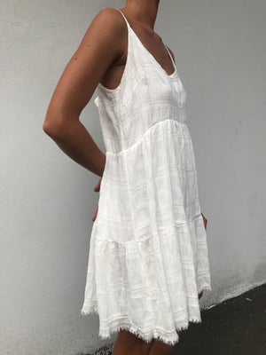 Celia Throw Dress | White