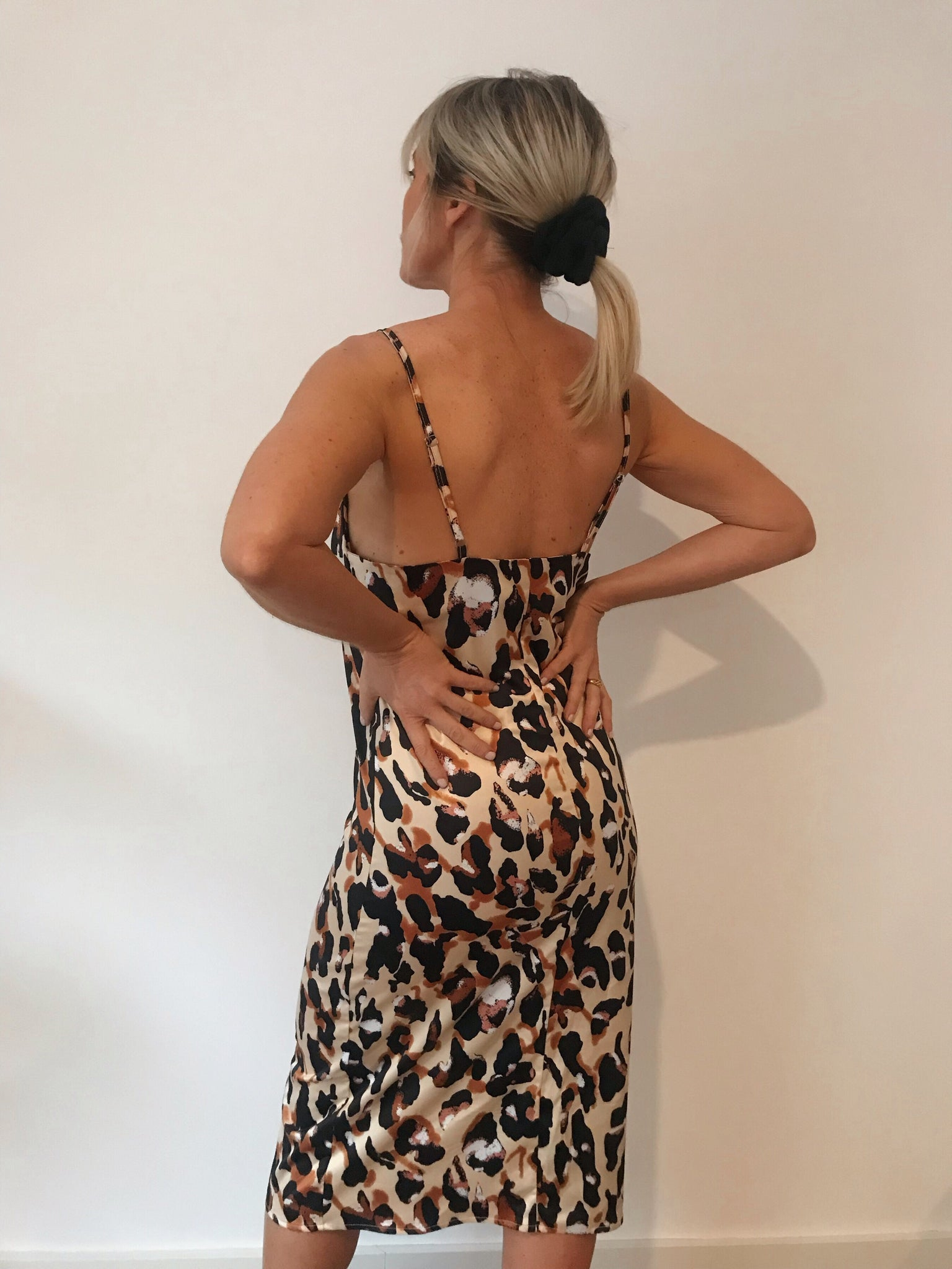Laura Leopard | Satin Dress