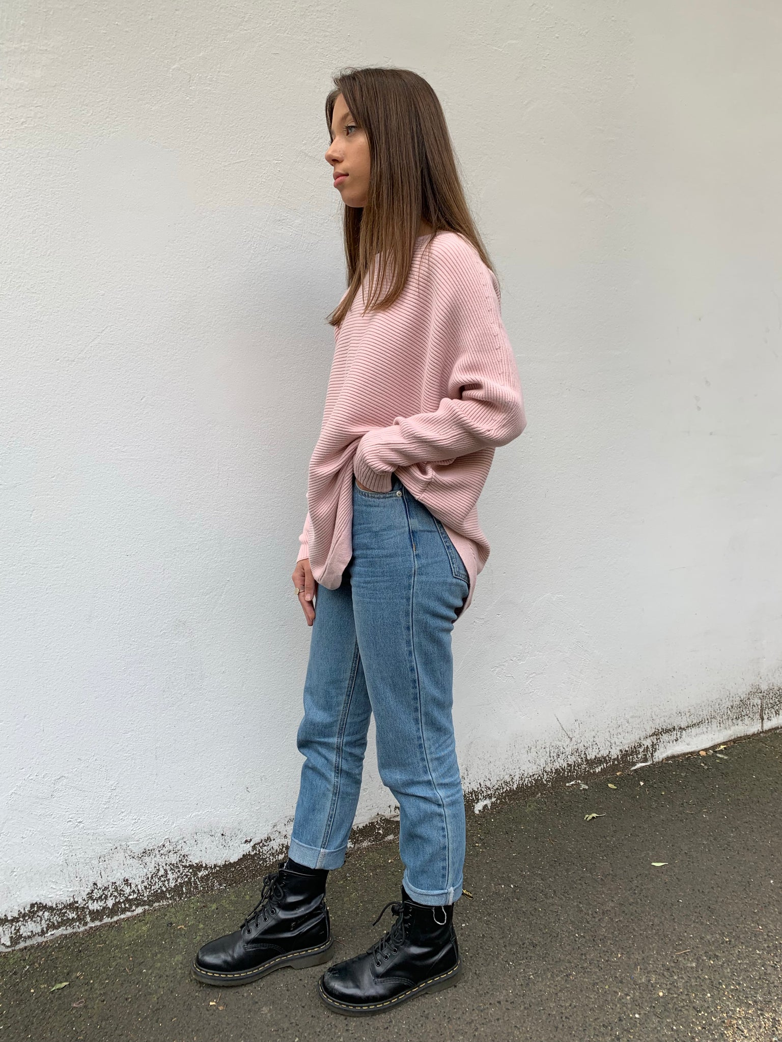 Kate Ribbed Jumper | Dusty Pink