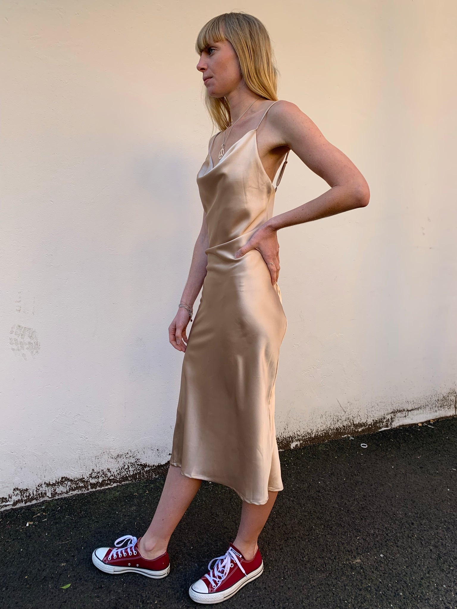 Xanthe Slip Dress | Champagne